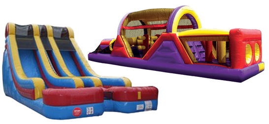 slides and obstacle courses